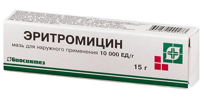 Эритромициновая мазь против прыщей: применение