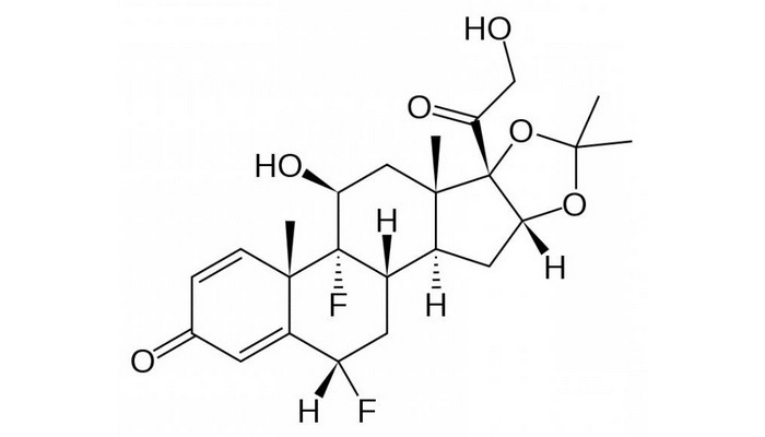 Флуоцинолона ацетонид формула