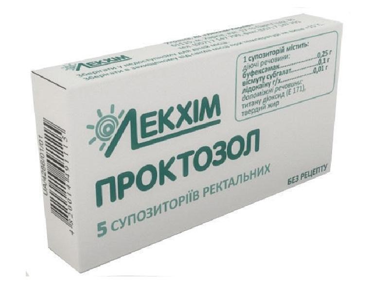 Проктозол крем