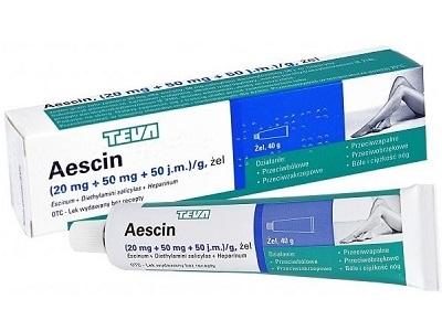 Аэсцин гель медикамент