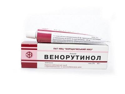 Венорутинол гель медикамент
