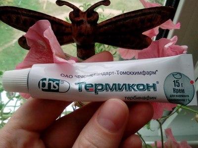 Также выявлена эффективность крема Термикон от лишая разноцветного вида, спровоцированного Pityrosporum orbiculare. применение