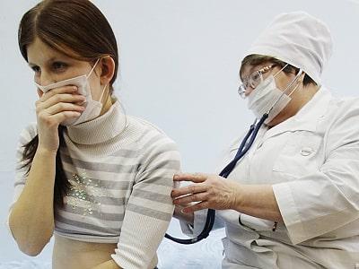 Осмотр при гриппе